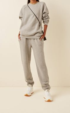 Cotton Sweatpants, Sweatpants Outfit, Brown Jumpsuits, Raglan, Cute Casual Outfits, Casual Chic, Matching Outfits, Lounge Wear, Sweatshirts