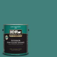 BEHR Premium Plus 1-gal. #M450-6 Bubble Turquoise Semi-Gloss Enamel Exterior Paint-534001 - The Home Depot