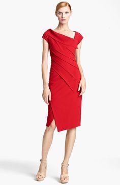 donna karan red dress | Donna Karan New York Collection Matte Jersey Dress in Red (lipstick ...