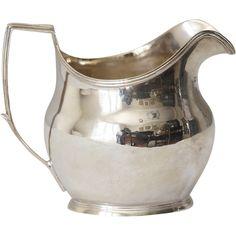 Antique English Sterling Silver Jug Creamer - Antique English Sterling Silver Jug Creamer