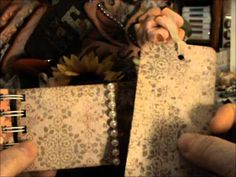 Toilet Paper & Paper Towel Roll Mini Album.  This one uses lace, pearls, & tull.