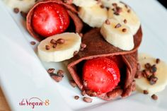 """Brandi's Sweet Chocolate Crepes from """"The Vegan 8"""" – 'Breakfast In Bed-Fest' entry # 4"""