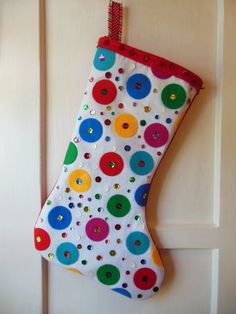 CHRISTMAS  STOCKING    Felt Christmas Stocking   by naturali4color, $50.00