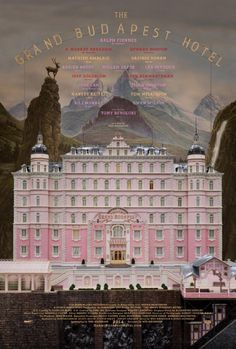 Movie poster for Wes Anderson's The Grand Budapest Hotel, by Fox Searchlight Pictures