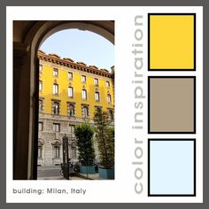 Milan Building: color mixing inspiration from my travels   #polymer #colormixing #color #christifriesen