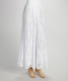 Look what I found on #zulily! White Lace Maxi Skirt - Women & Plus by Come N See #zulilyfinds