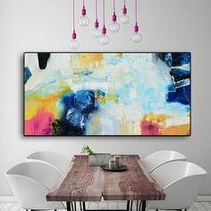 Coral Abstract Painting pink coral Painting Large art print