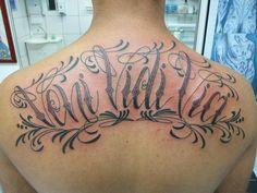 Veni Vidi Vici Script Filetes : www.micaeltattoo.com.br   micael_tattoo