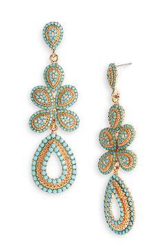 $58  Tasha 'Ornate' Linear Statement Earrings at Nordstrom