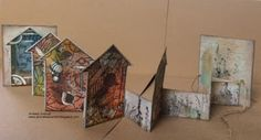 ANNEKESCARDART Home Art, Bees, Bookends, Card Ideas, Mixed Media, Stamps, Journey, Doors, Artwork