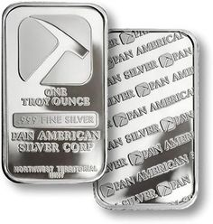 Pan American 1 Troy ounce Silver Bars are minted from fine silver. They feature the well-known silver hammer logo of Pan American Silver on the obverse Bullion Coins, Silver Bullion, Gold And Silver Coins, Silver Bars, Hammer Logo, Pan Pan, Silver Market, Penny Auctions, Silver Investing