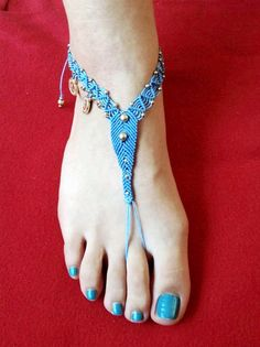 barefoot sandals macrame sandal ankle jewelry ankle by zenboho