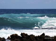 Fine Art Photography Photograph - Double Waves by Patricia Griffin Brett on Fine Art America~ prints starting @ $28