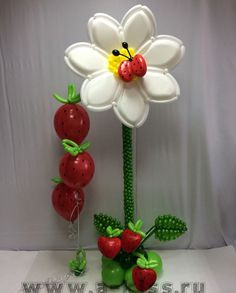 Balloon flower with lady bug. Sweet!