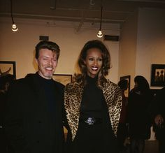 Bowie with Iman