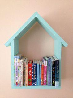 House Shelf (large) // Kids Book Shelf // Floating Nursery Shelf // Nursery Book Shelf // House Book Shelf One LARGE Handmade House Shelf Retro Furniture, Kids Furniture, Cheap Furniture, Ladder Shelf Diy, Nursery Bookshelf, House Shelves, Bookshelves Kids, Handmade Bookshelves, Handmade Home