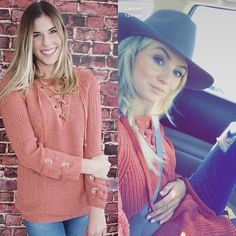 Get The Look! As seen on @laurenbushnell  The Kendall Knit Sweater- $45 with FREE SHIPPING