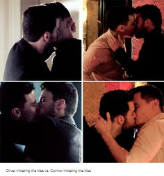 Ollie initiating the kiss vs. Connor initiating the kiss