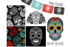 Sugar Skull Day of the Dead Clip Art by GraphicMarket on @creativemarket
