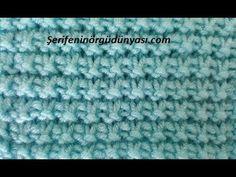 Knitting Videos, Knitting Stitches, Baby Knitting, Knitting Patterns, How To Purl Knit, Tunisian Crochet, Stitch Patterns, Free Pattern, Diy And Crafts