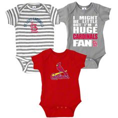 St. Louis Cardinals Infant Baby Rib Creeper 3-Pack ADORABLE!