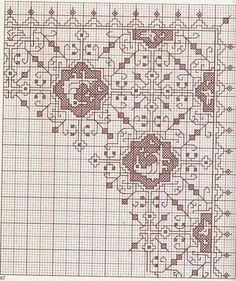 Great collection of patterns in Assisi point Blackwork Cross Stitch, Blackwork Embroidery, Embroidery Art, Cross Stitching, Cross Stitch Embroidery, Embroidery Patterns, Cross Stitch Boarders, Cross Stitch Charts, Cross Stitch Patterns