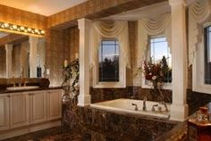 Another example of square interior columns. A great way to add a bit of a classic look to a room. Interior Columns, Interior Design, European Fashion, Corner Bathtub, Classic Looks, Old World, House Styles, Room, Homes