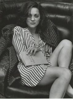 "Marion Cotillard.  ""Thank you for reminding me I'm not special. You don't even see what you do, do you? Even the moments I think are ours, it's just you working to get what you want.  You're just an appetite, and if you stopped being greedy you'd die. You take everything, and I'm empty. You know, I'm glad I came. I can see now… it's hopeless…"""