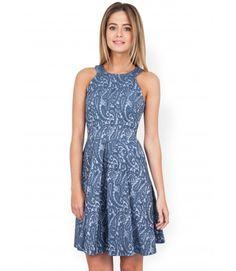 Closet Paisley Jacquard Racer Back Dress - Workwear