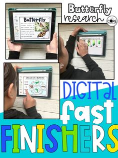 This is a great option for fast finishers in your classroom. Students can research butterflies and hand in their projects digitally to the teacher. So AWESOME