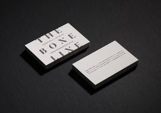 Debossed business cards for wine label The Boneline by graphic design studio Inhouse