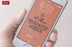 10 iPhone Wallpaper Mockup psd  http://textycafe.com/23-iphone-6-mockup-psd-templates/