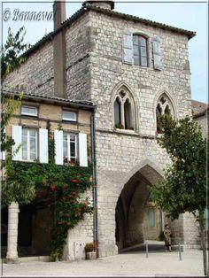 Monflanquin, Lot-et-Garonne,maison dite du Prince Noir, 14ème siècle