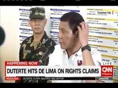 77   MESSAGE OF PRESIDENT DUTERTE TO DE LIMA  IF I WERE DE LIMA, I ll HANG MY SELF! - WATCH VIDEO HERE -> http://dutertenewstoday.com/77-message-of-president-duterte-to-de-lima-if-i-were-de-lima-i-ll-hang-my-self/   News video credit to YouTube channel owners  Disclaimer: The views and opinions expressed in this video are those of the YouTube Channel owners and do not necessarily reflect the opinion or position of the site owners/FB admins.