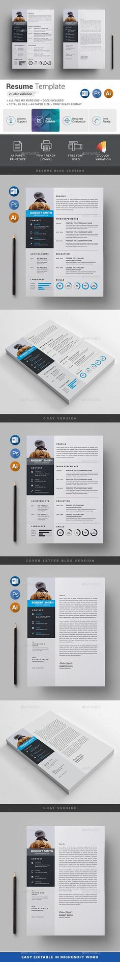 Resume template + FREE Cover Letter by Resume Templates on - resume customization reasons