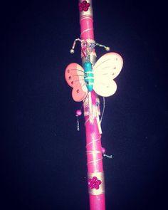 """1 """"Μου αρέσει!"""", 1 σχόλια - Maria Kouleli (@maria.k1984) στο Instagram: """"#easter #bazaar #lagyna #candle #diy #handmade #craft #candle #butterfly #pink #April #decoration"""""""