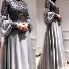 New dress brokat lace sleeve Ideas Hijab Gown, Hijab Dress Party, Kebaya Hijab, Kebaya Dress, Kebaya Muslim, Muslim Hijab, Party Dresses, Kebaya Brokat, Trendy Dresses