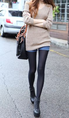 Tights with boots
