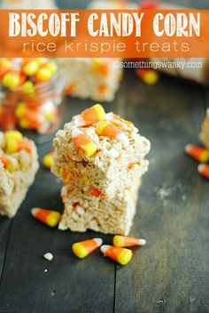from something swanky biscoff candy corn rice krispies treats biscoff ...
