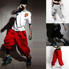 Mens Womens Casual Harem Baggy Hip Hop Dance Sport sweat Pants Trousers Slacks | eBay