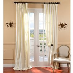@Overstock - Dress windows with this cream curtain panel for an instantly classy look. The rod-pocket panel is constructed from 100 percent Belgian linen yarns, and includes back hidden tabs and belt hook header. Each panel measures 84-110' x 50'. http://www.overstock.com/Home-Garden/Cream-Belgium-Yarn-Linen-Curtain-Panel/7154203/product.html?CID=214117 $106.86