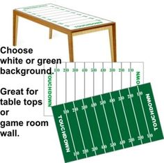 Football Table Top decal. http://www.vinyl-decals.com/football_tabletop-FootballTableTop.php?cat=105