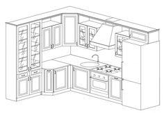 Kitchen Sets, Kitchen Storage, Kitchen Measurements, Elegant Kitchens, Apartment Design, Kitchen Design, Kitchen Cabinets, Layout, House Design