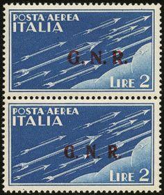 lotto 701 - R.S.I. - GNR - P.A. L.2 coppia con soprast. di Brescia