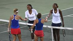 Williams sisters fall for first time in Olympics