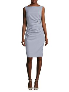 Ruched Side Sheath Dress by Ava