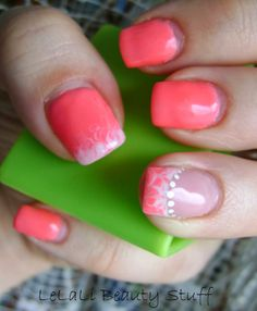 LeLaLi Beauty Stuff: NOTM: Hot Pink + White Pink White, Hot Pink, Beauty Stuff, Nails, Finger Nails, Ongles, Nail, Nail Manicure