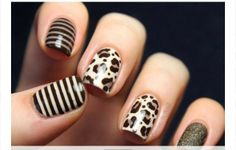 Nail Art Designs In Every Color And Style – Your Beautiful Nails Get Nails, Fancy Nails, Trendy Nails, Leopard Nail Art, Leopard Print Nails, Leopard Prints, Leopard Spots, Nail Deco, Super Nails