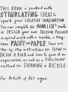"""Fantastic art/colouring/design book """"Let's Make Some Great Art"""" Marion Deuchars"""
