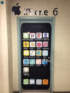 For anti-bullying month, my Grade 6 students decided to create an I-Phone 6 door. Seeing as how they were in Grade 6, this was a great idea.  Each student created an app with an anti-bullying message that related.